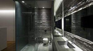Rivestimento bagno interno lavorati pietra di Luserna